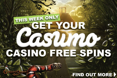 Get Your Gonzo's Quest & Fantasini Free Spins at Casumo