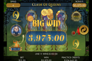 Clash of Queens Mobile Slot Big Win