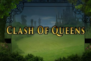 Clash of Queens Mobile Slot Logo