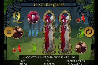 Clash of Queens Mobile Slot Screenshot