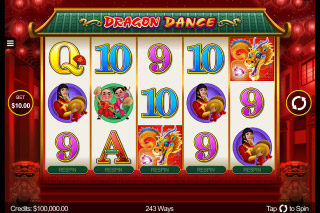 Dragon Dance Mobile Slot Reels