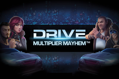 Drive Multiplier Mayhem Mobile Slot Logo