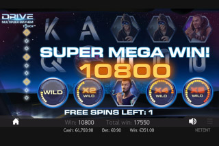 Drive Multiplier Mayhem Mobile Slot Super Mega Win
