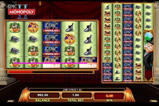Epic Monopoly 2 Mobile Slot Reels
