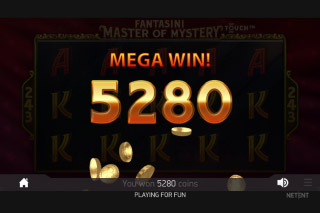 Fantasini Mobile Slot Mega Win