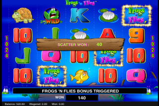 Frogs n Flies Mobile Slot Scatter Win