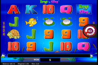 Frogs n Flies Mobile Slot Reels