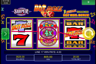 Hot Roll Super Times Pays Mobile Slot Multiplier