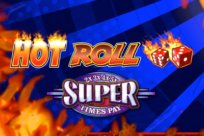Hot Roll Super Times Pays Mobile Slot Logo