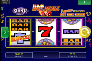 Hot Roll Super Times Pays Mobile Slot Reels