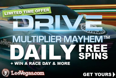 Get Your Drive Free Spins At LeoVegas & More