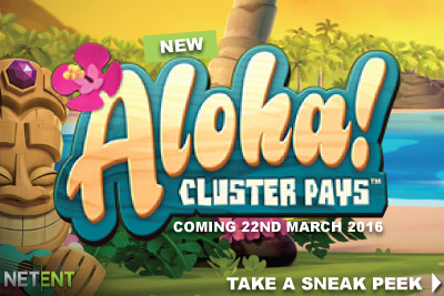 New NetEnt Aloha Cluster Pays Mobile Slot Coming March 2016