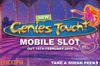 New Quickspin Mobile Slot Genies Touch Preview