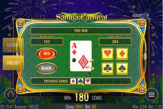 Samba Carnival Mobile Slot Gamble Feature