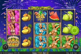 Samba Carnival Mobile Slot Reels