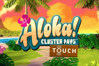 Aloha Cluster Pays Mobile Slot Logo