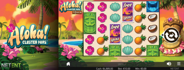 Aloha Cluster Pays Mobile Slot Screenshot