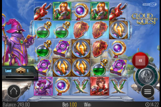 Cloud Quest Mobile Slot Reels