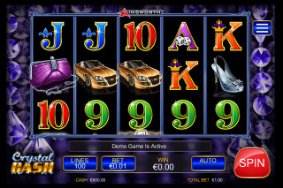 Crystal Cash Mobile Slot Reels
