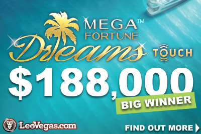 NetEnt Mega Fortune Dreams Touch Jackpot Winner