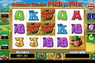 Rainbow Riches Pick n Mix Slot Reels