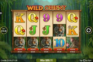 Wild Orient Mobile Slot Reels