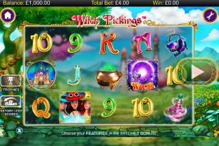 Witch Pickings Mobile Slot Reels