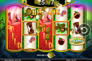 Wizard of Oz Ruby Slippers Mobile Slot Big Win