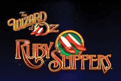 Wizard of Oz Ruby Slippers Mobile Slot Logo