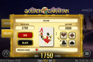 Golden Caravan Mobile Slot Gamble Feature