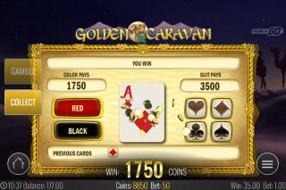 Golden Caravan Mobile Slot Gamble Feature