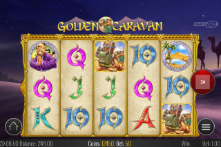 Golden Caravan Mobile Slot Reels