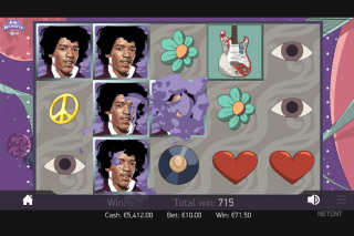 Jimi Hendrix Mobile Slot Bonus Game