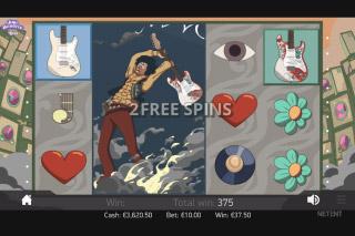 Jimi Hendrix Mobile Slot Free Spins