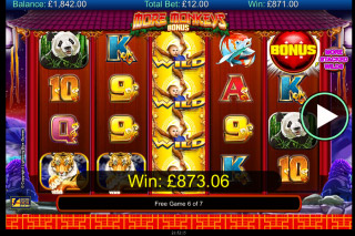 More Monkeys Mobile Slot Bonus Game