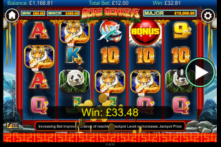 More Monkeys Mobile Slot Reels