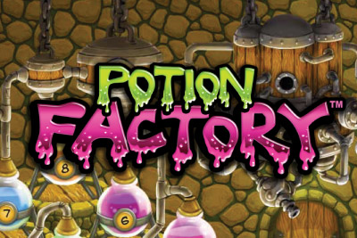 Potion Factory Mobile Slot Logo