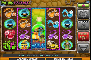 Potion Factory Mobile Slot Reels