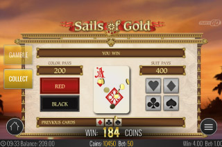 Sails of Gold Mobile Slot Gamble Feature