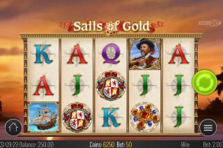 Sails of Gold Mobile Slot Reels