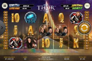 Thor Mobile Slot Reels