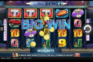 Diamond Tower Mobile Slot Big Win