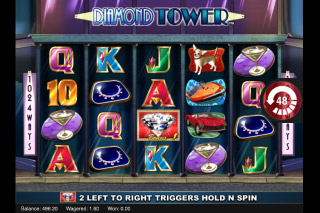 Diamond Tower Mobile Slot Reels