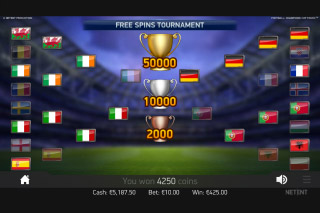 Football Champions Cup Mobile Slot Free Spins