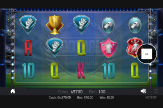 Football Champions Cup Mobile Slot Reels