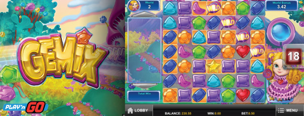 Play'n GO Gemix Mobile Slot Machine