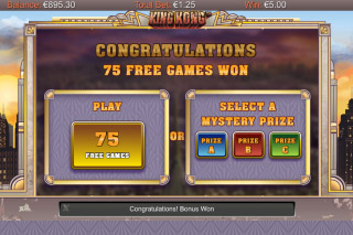 King Kong Mobile Slot Free Spin Win