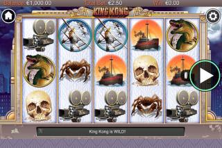 King Kong Mobile Slot Reels