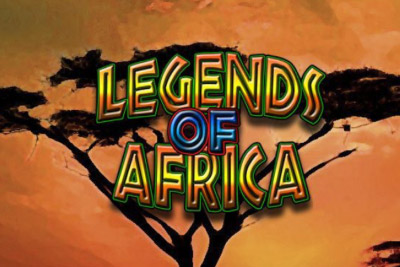 Legends Of Africa Mobile Slot Logo