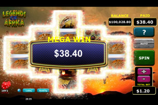 Legends Of Africa Mobile Slot Mega Win
